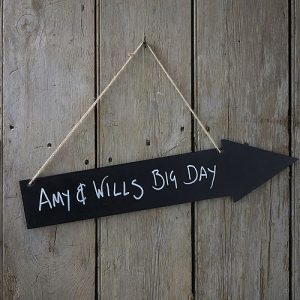 Vintage Chalkboard Arrow