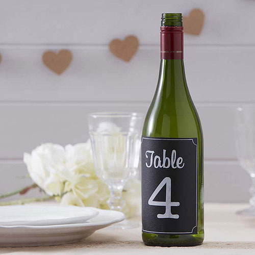 Table Number Bottle Stickers