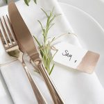 Gold Foil Luggage Tag