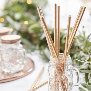 Botanics Rose Gold Straws