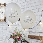Boho Just Married Balloons