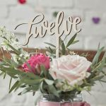 Boho Wooden Table Numbers