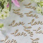 Boho Wooden Love Confetti