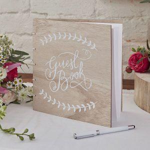 Boho Wooden Guest Book