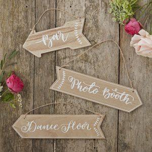 Boho Wooden Arrow Signs