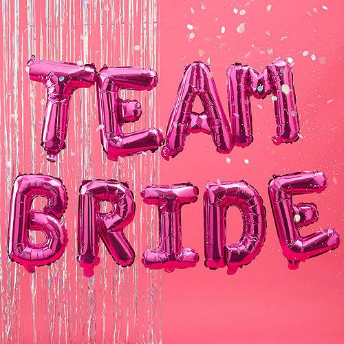 Team Bride Balloon Bunting