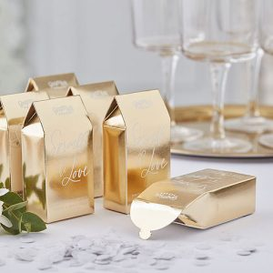 Gold Biodegradable Confetti Boxes