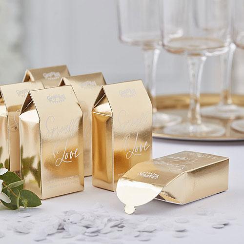 Gold Biodegradable Confetti Boxes