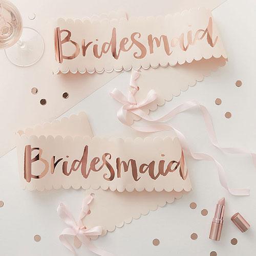 Team Bride Bridesmaid Sash
