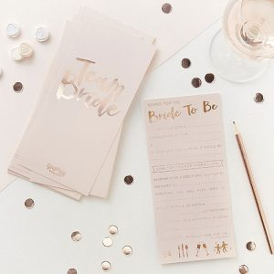 Team Bride Advice Cards