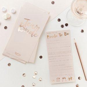 Team Bride Advice Cards