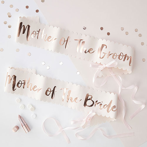 Mother of the bride and Groom Sash