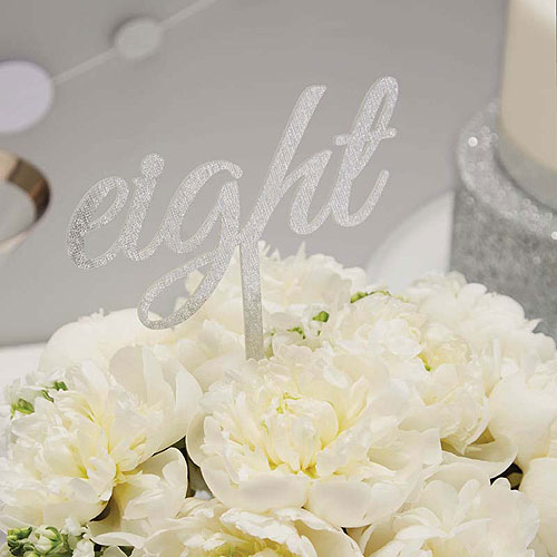 Metallic Perfection Table Numbers