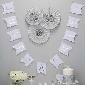 Just Married Foiled Bunting