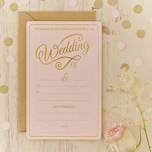 Pastel Perfection Wedding Invitations