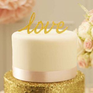 Pastel Perfection Love Cake Topper