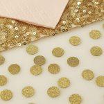 Gold Glitter Table Confetti