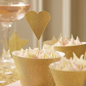Heart Cup Cake Toppers