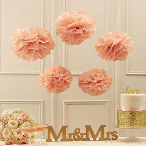 Pastel Perfection Tissue Paper Pom Poms