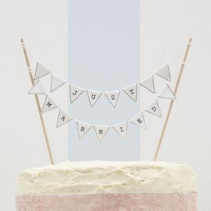 Vintage Lace Just Married Cake Bunting