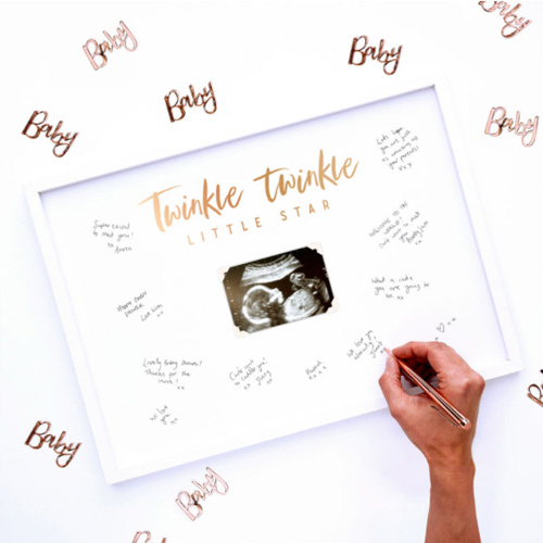 Baby Shower Signing Frame Guest Book