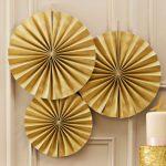 Gold Circle Fan Decorations