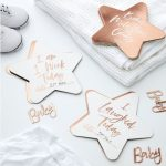 Rose Gold Baby Milestone cards