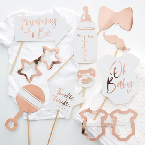 Rose Gold Baby Photobooth Props