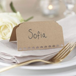 Plain Kraft Place Cards