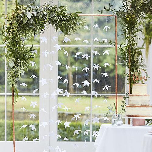 White Origami Flower Backdrop
