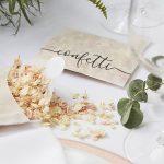 Dried Rose Petal Confetti Envelope