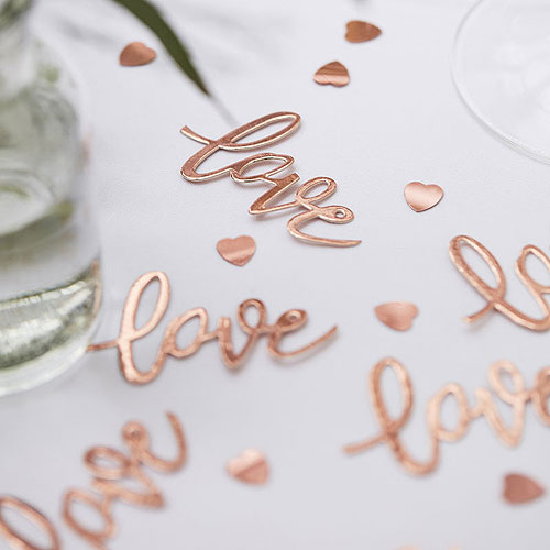 Rose Gold Love Table Confetti