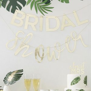 Gold Bridal Shower Bunting