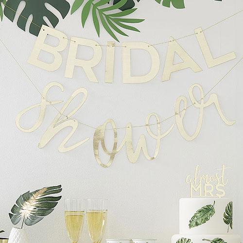 Gold Bridal Shower Bunting