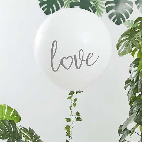 White Love Balloon