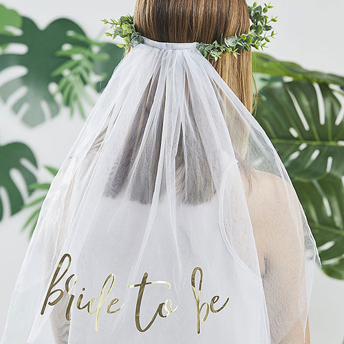 Bride to Be Crown with Veil
