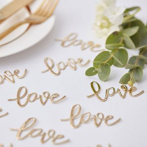 Gold Love Table Confetti