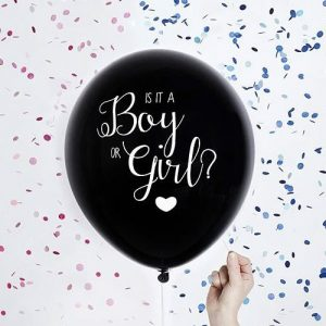 Blue Confetti Gender Reveal Balloon