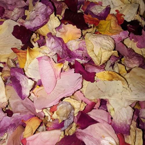 Mixed bags rose petal confetti