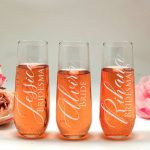 Personalised Stemless Champagne Glass