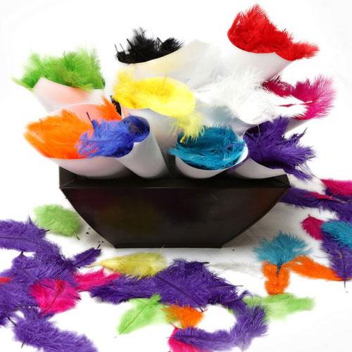 Feather confetti