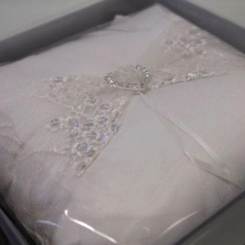 Diamante Heart Ring Pillow
