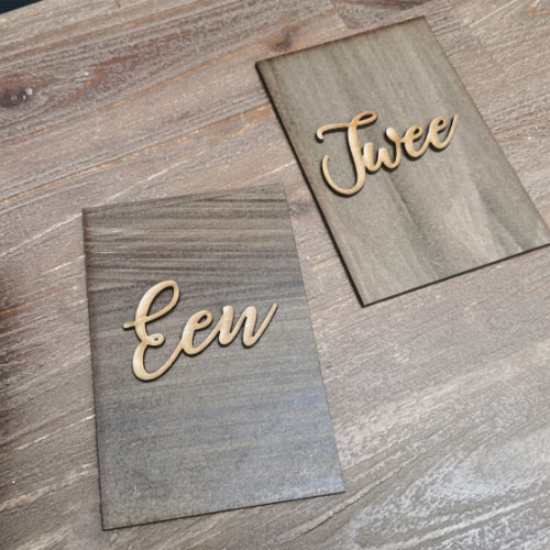 Rectangular Wooden Table Numbers