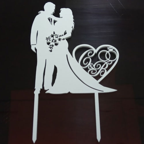 Couple in Love Cake Topper
