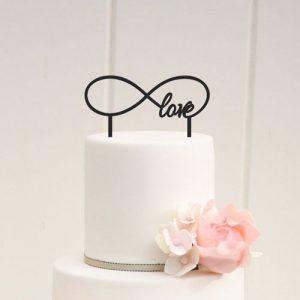 Infinity Heart Cake Topper