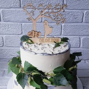 Kissing Tree Cake Topper