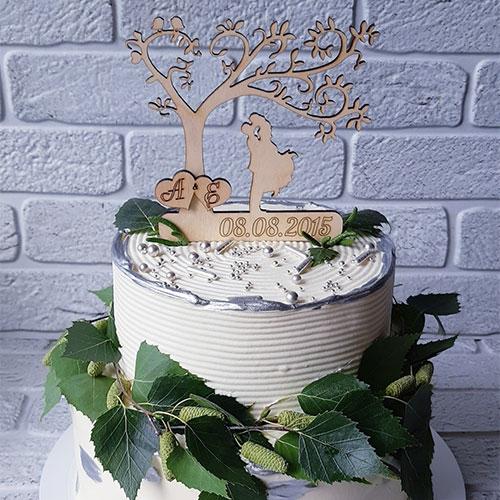 Kissing Tree Cake Topper
