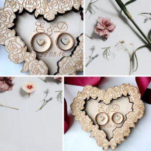 Rose Heart Ring Holder