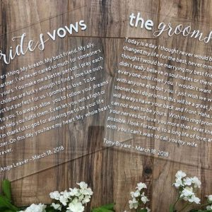 Acrylic Vow Boards