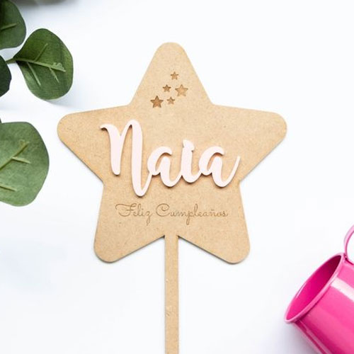 Personalised Layered Cake Topper
